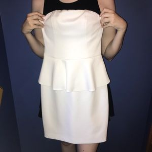 White Peplum Formal Dress